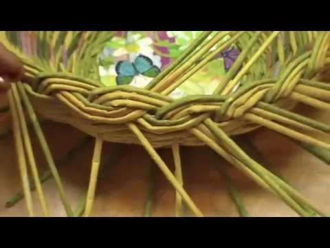 Плетение корзины из mirsovetovru