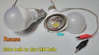 Yeniden || 10w AC 12 V DC LED Ampul // doğrudan pil konnektör LED Erimiş -