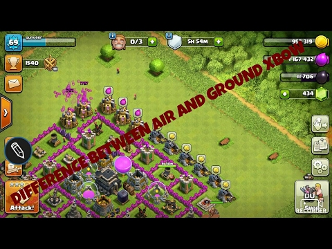 Difference between air and ground xbow