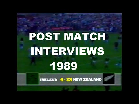 ALL BLACKS vs IRELAND | 1989 Archive | Post Game Interviews