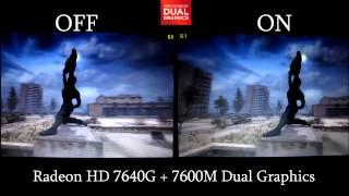 AMD™ Dual Graphics Comparison, Single vs Dual