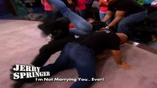 Fight Takes Out Entire Security Team! (The Jerry Springer Show)