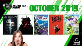 Xbox Game Pass October 2019 | New Arrivals & What's Leaving