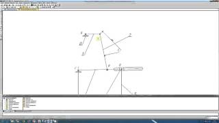 План положений механизма. Параметрический метод в Компас.