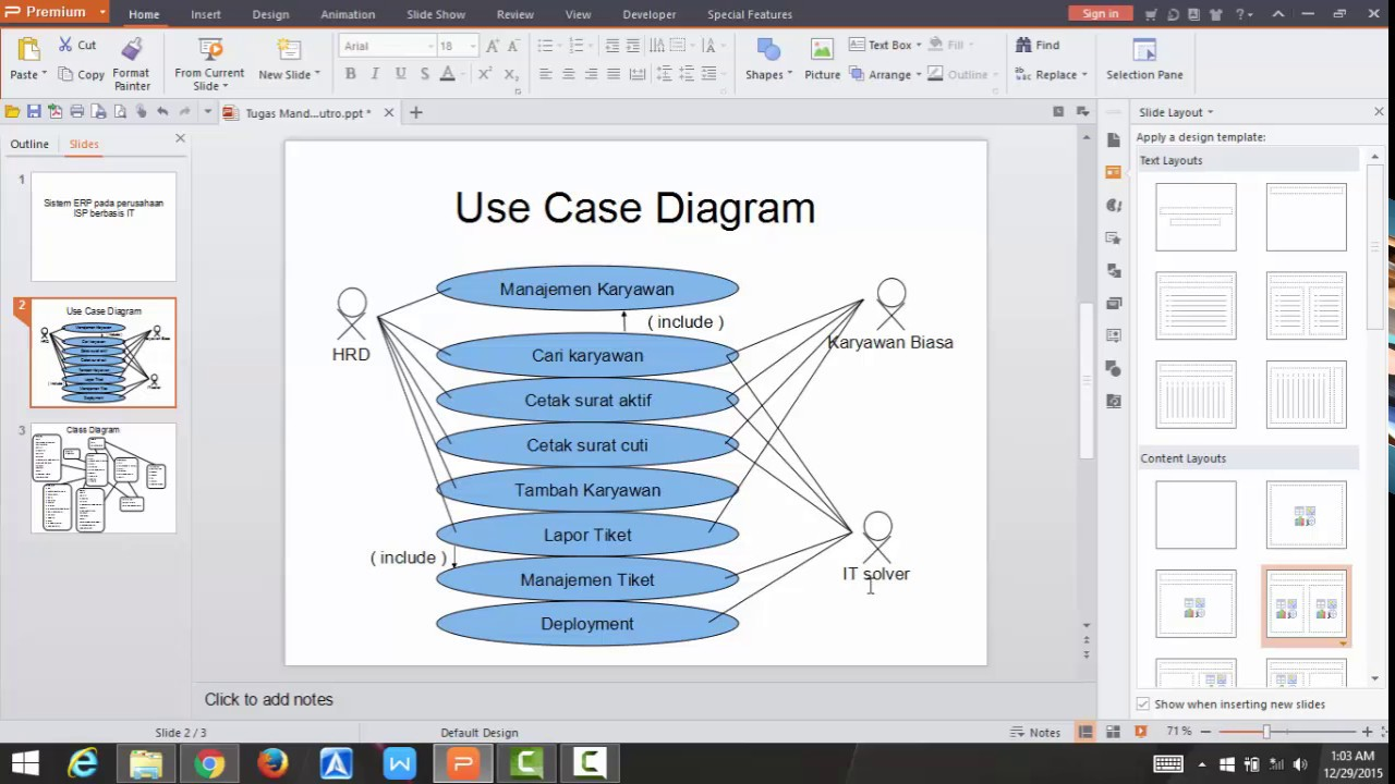 Contoh Use Case Diagram Dan Class Diagram Pada Sistem Erp Youtube