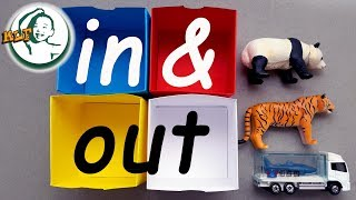 """Learn preposition """"in and out"""" with toy for kid"""