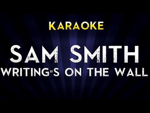 Sam Smith - Writing's On The Wall | LOWER Key Karaoke Version Lyrics Cover James Bond 007 Spectre