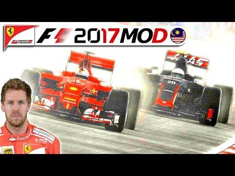 REGEN & RISIKO IN MALAYSIA – F1 2017 Saison Mod German | Sebastian Vettel Karriere #16 Deutsch