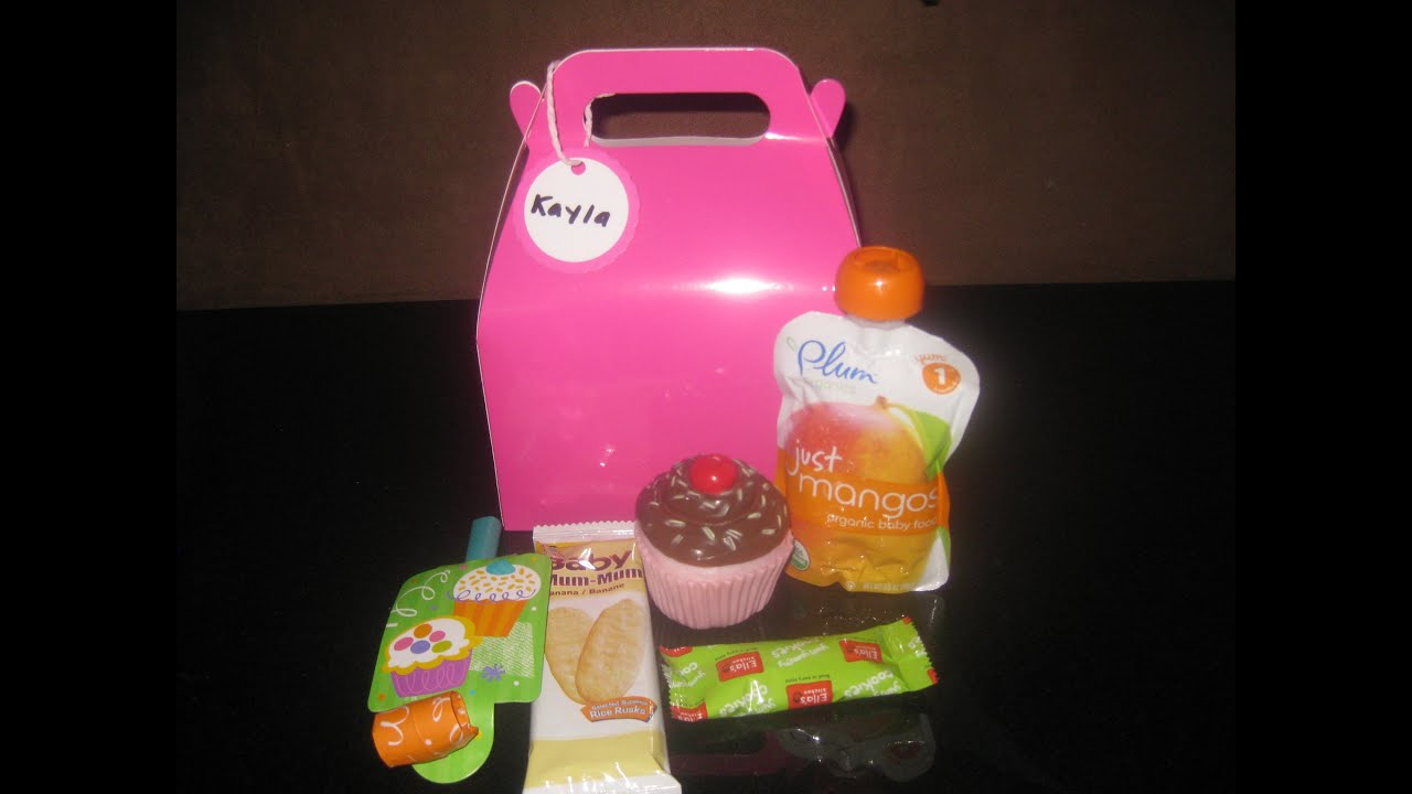 goody bags for babies cupcake theme 1st birthday youtube
