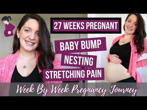 27 WEEKS PREGNANT UPDATE / BELLY SHOT! / 27 WEEKS BUMPDATE