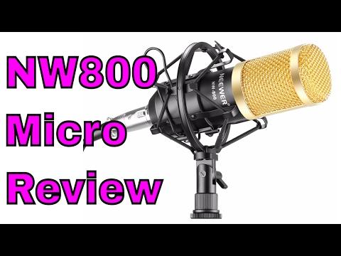 NW 800 Microphone Studio professionnel de diffusion et enregistrement Kit Review Par ThinkUnBoxing