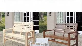 4214 Hardwood Patio Garden Benches, Patio Bench