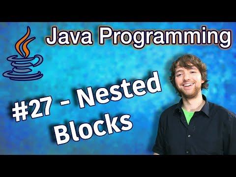 Java Programming Tutorial 27 - Nested Blocks (nested if) thumbnail
