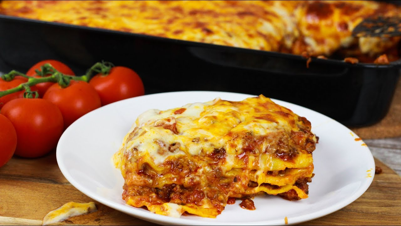 bestes lasagne bolognese rezept mit b chamelsauce pasta teig selber machen youtube. Black Bedroom Furniture Sets. Home Design Ideas