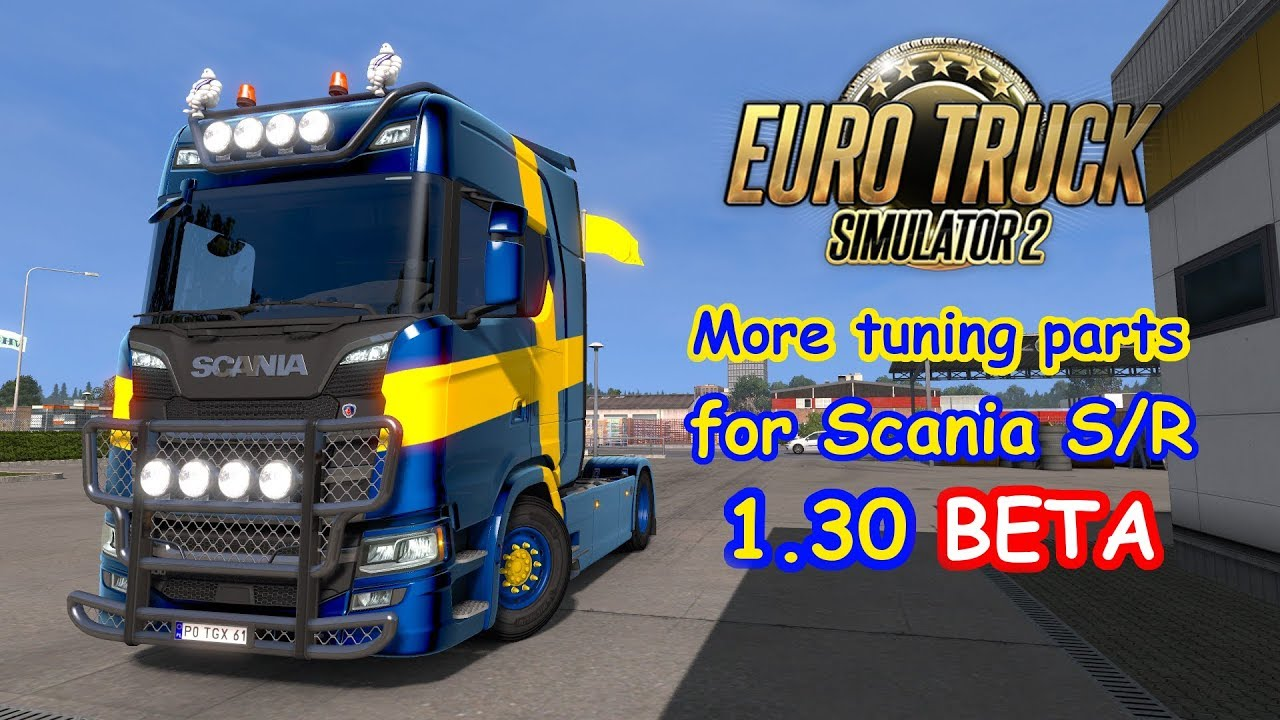 ets2 more tuning parts for scania s r youtube. Black Bedroom Furniture Sets. Home Design Ideas