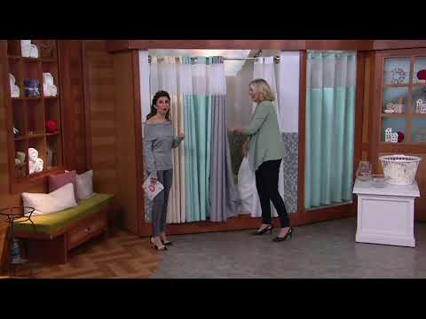 PreHooked Tracks Fabric Shower Curtain with Liner on QVC