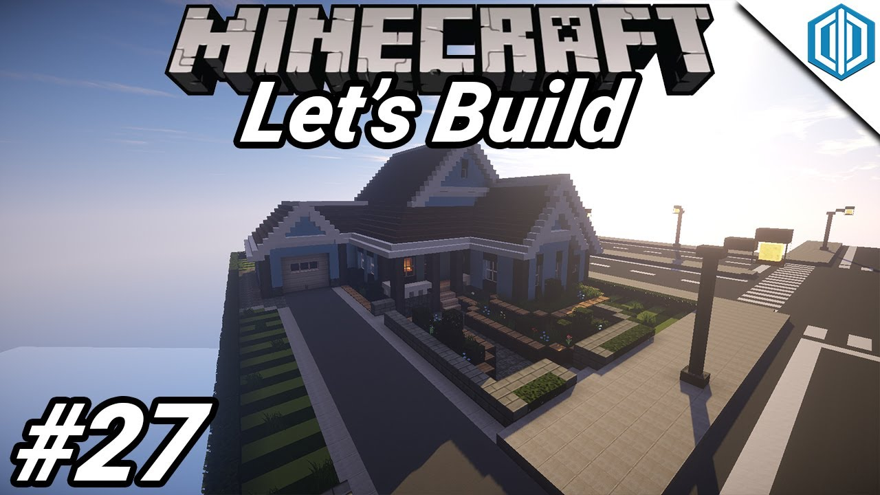 Minecraft Lets Build A Modern City Ep 27 Suburban House