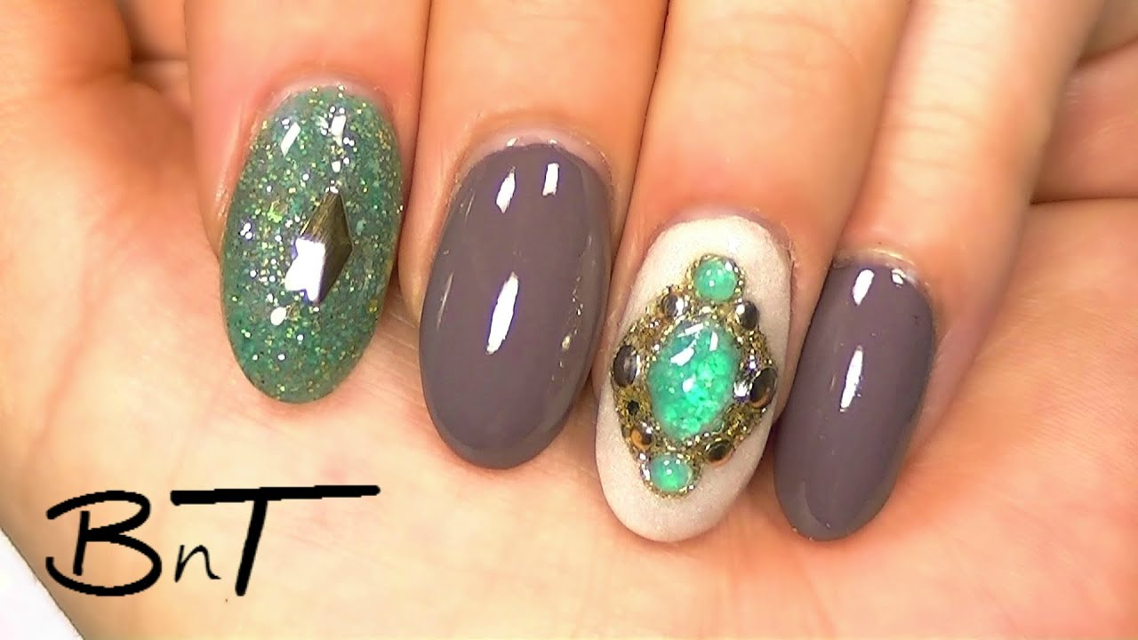 Acrylic nails - Create Your Own Gemstones or Jewels (E041) - YouTube