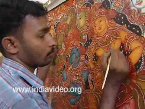 Tags painting kerala raja ravi varma for Asha mural painting guruvayur
