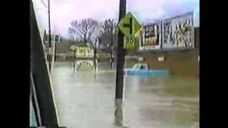 1985 Flood In Clarksburg, WV of West Fork River, Liberty Ave., The Canteen, Milford Street