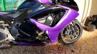 Как долить антифриз в мотоцикл не снимая пластик Замена антифриза в мотоцикле Спортбайк Suzuki GSX-R