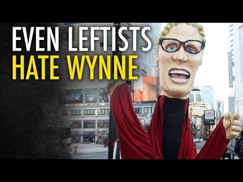 Giant Wynne puppet terrorizes Toronto!