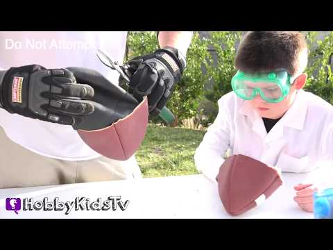 What's Inside a Football? Cut Open + Surprise Science Lab Family Fun by HobbyKidsTV