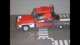 Обзор самодельного трансформера Оптимуса Прайма из Лего