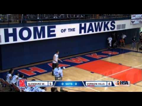 2015 IHSA Boys Volleyball Championship Game: Glen Ellyn (Glenbard West) vs. Vernon Hills