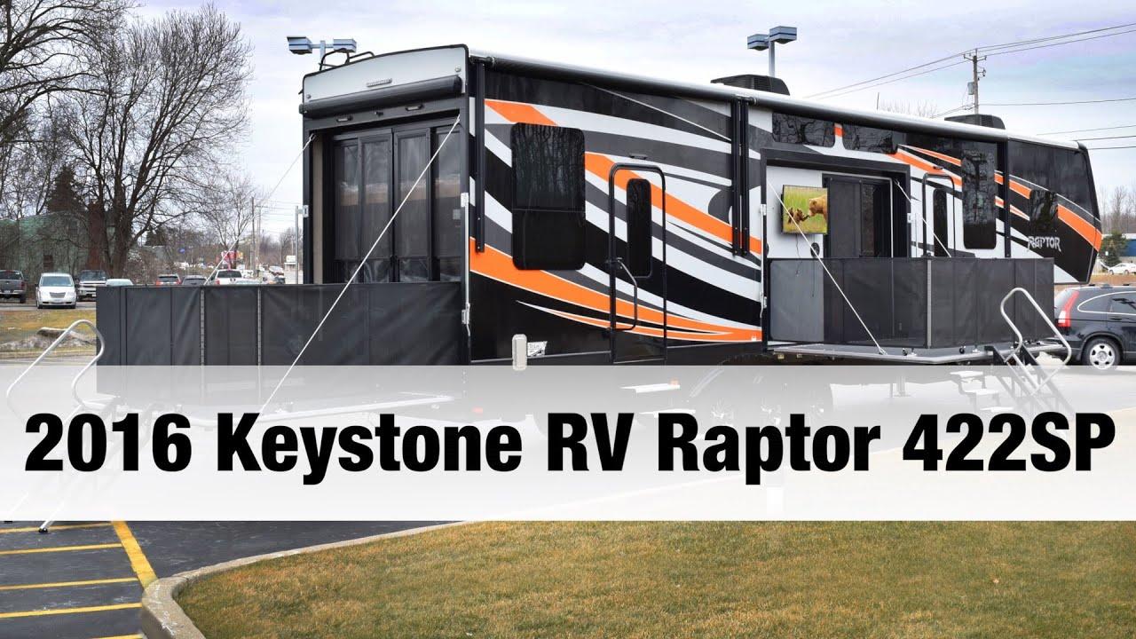 2016 Keystone Rv Raptor 422sp Toy Hauler Fifth Wheel