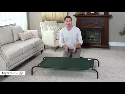 coolaroo-elevated-pet-bed---green---product-review-video