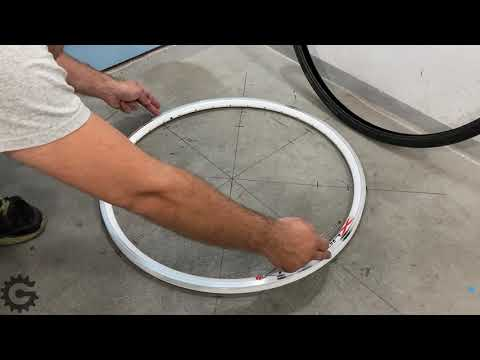 Merenje efektivnog prečnika felne, za pravljenje točka bicikla [0074]