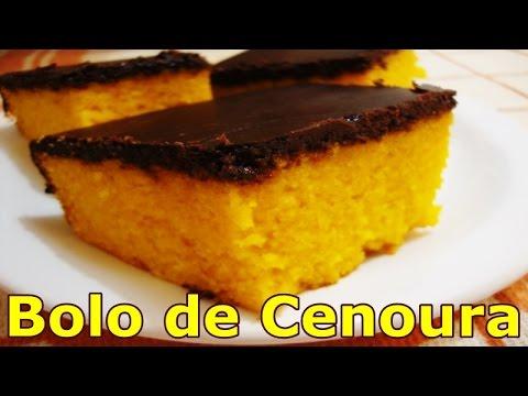 Bolo de Cenoura com Cobertura de Chocolate   Comida Maravilhosa #62