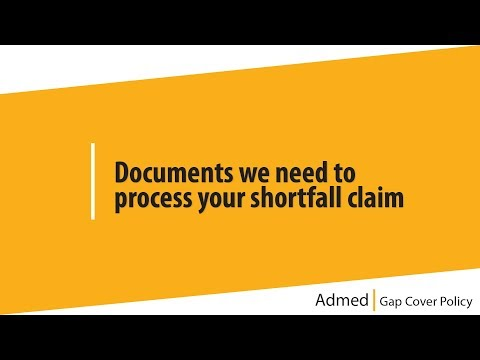 3 Documents we need to process your shortfall claim