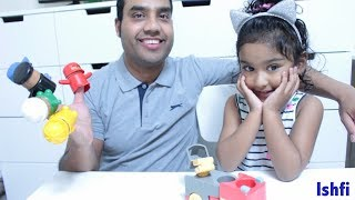 Happy Toddler Ishfi's Play time with Daddy