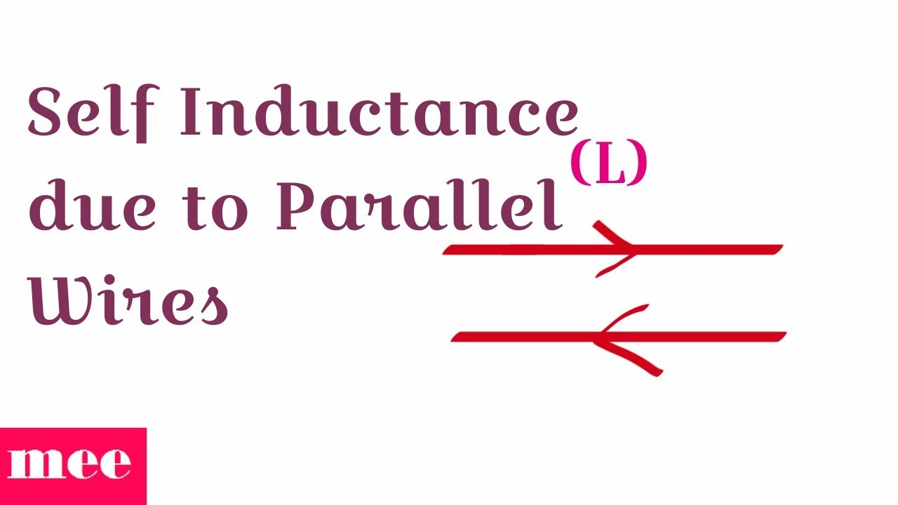 Self Inductance due to Parallel Wires - YouTube