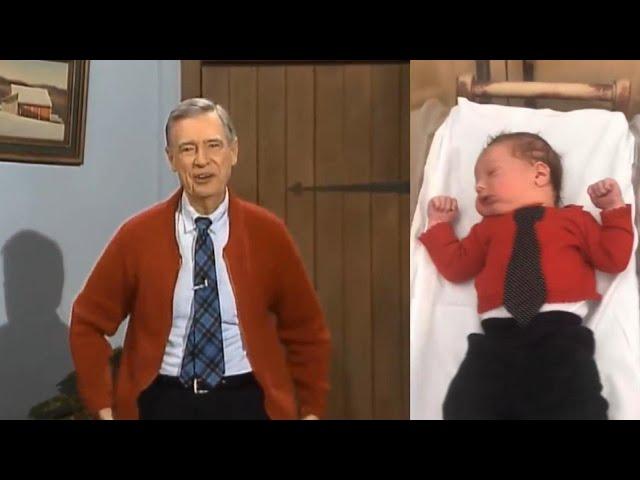 Hello, Neighbors! Nurses Dress Newborns Like Mr. Rogers