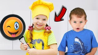 Breakfast for my mama song pretend play for kids | الإفطار لأغني ماما