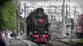 Выставка ретро паровозов