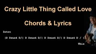 Crazy Little Thing Called Love | Chords and Lyrics | TAB |Queen