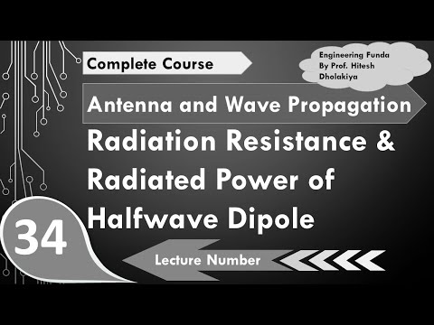Radiation Power and Radiation Resistance of Halfwave Dipole Antenna in Antennas by Engineering Funda