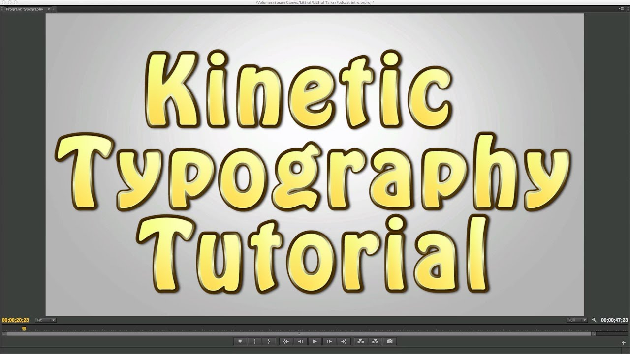 Kinetic Typography AE Tutorial (Basics / Tips and Trick ...
