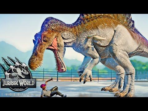 Hypo Spinosaurus, Malusaurus, T-REX Fight! - Jurassic World Evolution New Theropod Dinosaurs Fight! |
