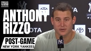 Anthony Rizzo Reacts to Returning to Lineup & Watching Bronx Native Andrew Velazquez Play for NYY