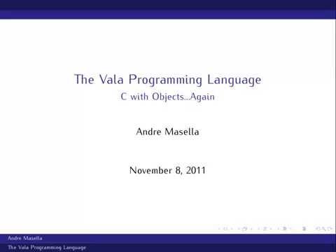 Vala Language Introduction