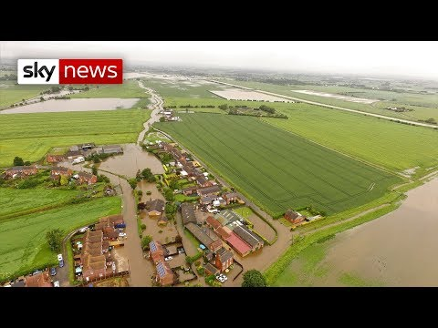 Lincolnshire:  Two months of rain in just two days