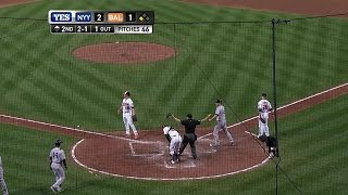 Beltran steals home and Headley follows