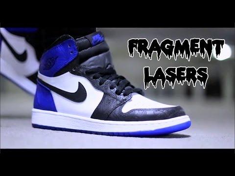 1b711370b2e Channel Feature #21: Air Jordan Fragment Laser 1 Custom Tutorial:  Sophiesophss - YouTube
