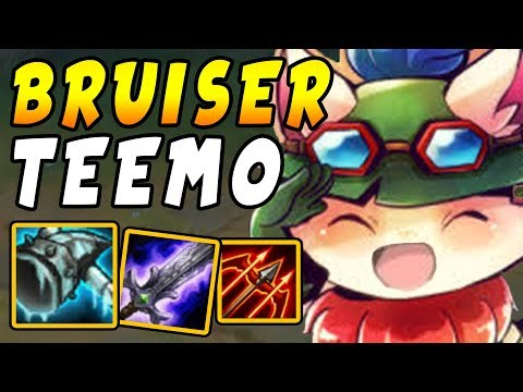 Bruiser TOP Teemo with Grasp of The Undying + Frozen Mallet = INSANE Dueling Power!