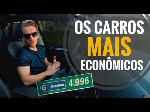 Os 5 Carros Mais ECONÔMICOS do Brasil